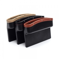 Car Seat Crevice Pockets 3 Color PU Leather Leak-Proof Storage Box Car Organizer Universal Car Seat Side Gap Pocket