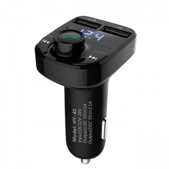 Car MP3 Audio Player Bluetooth Car Kit FM Transmitter Handsfree Calling 5V 4.1A Dual USB Car Charger Phon