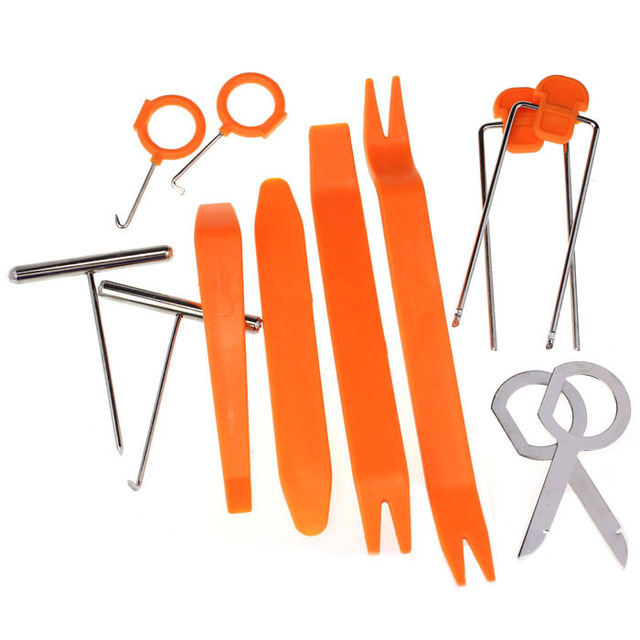 12Pcs//Set Car Install Removal Tools for Radio Door Clip Panel Dash Audio Stereo
