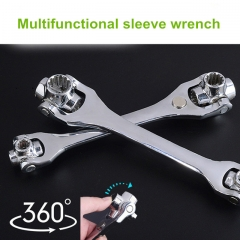 Multifunctional sleeve wrench Multiple interface wrench Universal rotation Car repair necessary Magnetic high quality Handle