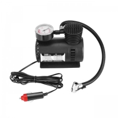 DC12V 300PSI Car Tire Inflator Auto Air Compressor Tire Pump with Pressure Gauge for Car Bicycle Ball Rubber Dinghy