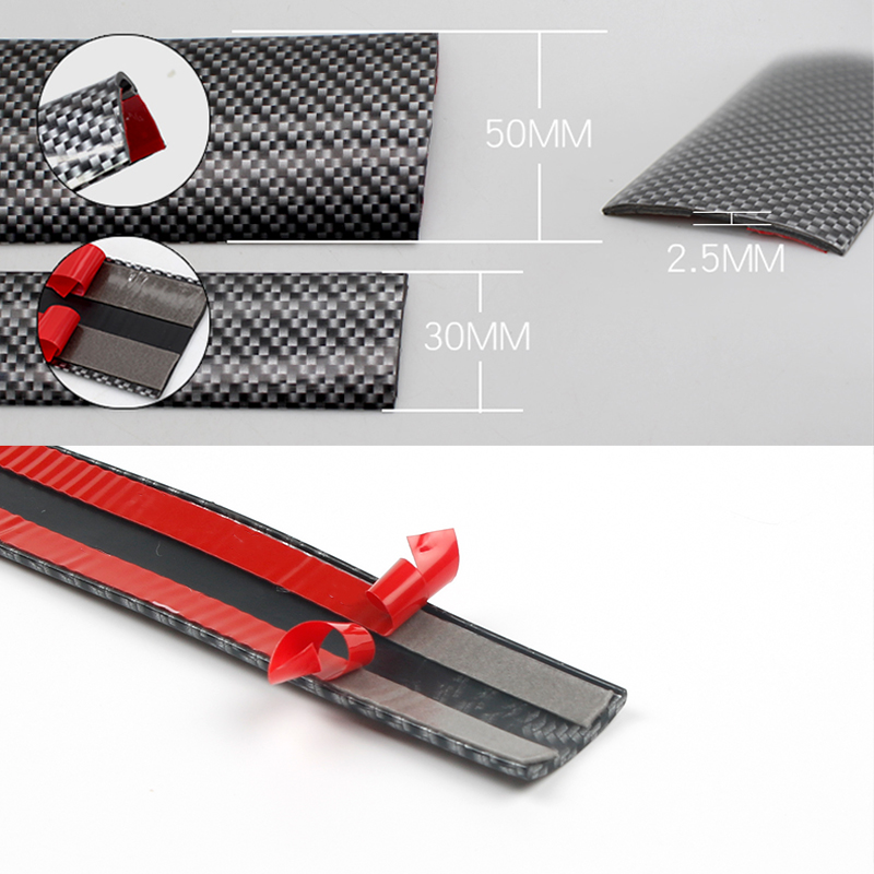 5D Carbon Fiber Rubber Car Styling Stickers Door Sill Protector Goods For KIA To