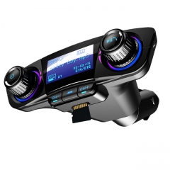 YIJ Power ON OFF Bluetooth 4.0 FM Transmitter Modulator Handsfree Car Kit TF USB Music AUX Audio MP3 Player