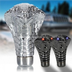 Universal Chrome Red / Blue Led Eyes LED Eyes Car Cobra Manual Gear Shift Knob Snake Shifter