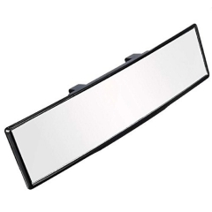 Wide Angle Rear View Mirror Universal Interior Curve Convex Rear View Mirror Clip on Original Mirror 12'' 305mm