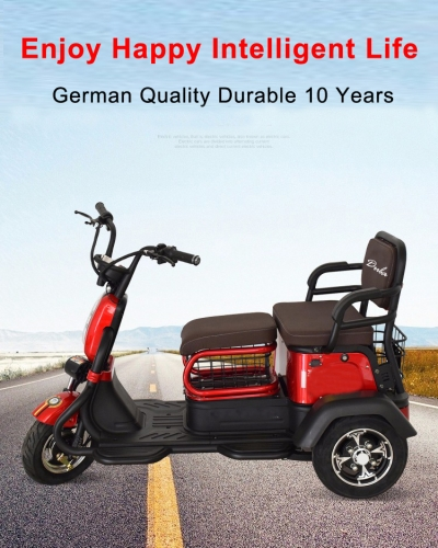 Electric Tricycle 3 Wheel Electric Leisure Scooter Battery Tricycle MODEL 2.0 25km/h ABS electronic brakes