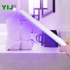 Manufacturer Direct Sale of UV Sterilization Lamp Hand-held Rechargeable UVC Sanitizer Bar Household Acarid Test Certificate yijauto